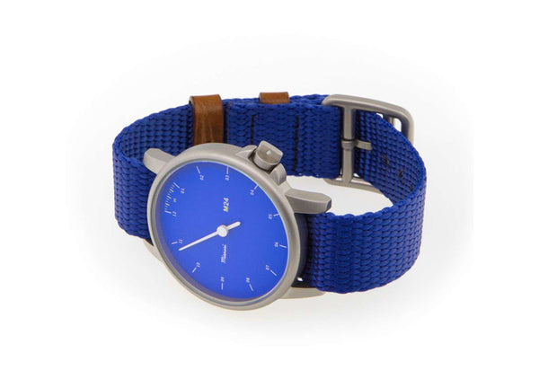 Miansai M24 Blue Watch on Blue Rope Strap