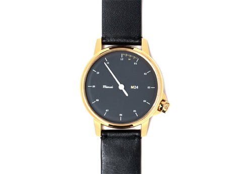 Miansai M24 Watch - Gold and Black Leather