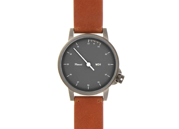 Miansai M24 Watch - Noir and Brown Leather