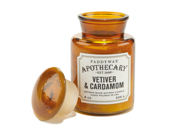 Paddywax Apothecary 8oz Cardamom & Vetiver Candle