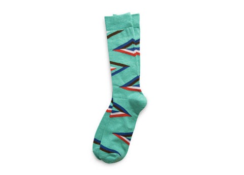 Richer Poorer Architect Socks - Green