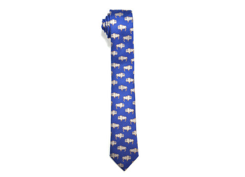 Seaward & Stearn Blue Bison Silk Tie