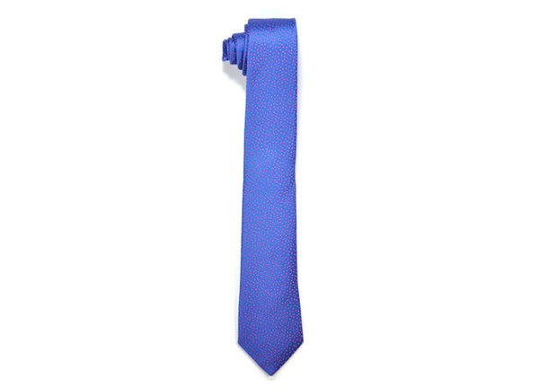 Seaward & Stearn Blue & Red Dot Silk Tie