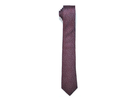 Seaward & Stearn Burgundy & White Dot Silk Tie
