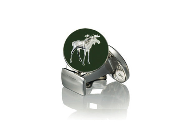 Skultuna Hunter Moose Cufflinks - Silver