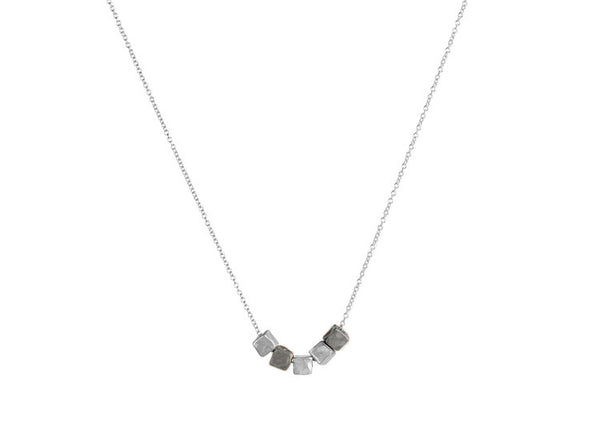 Vanessa Lianne Camille Necklace - Kohl & Silver