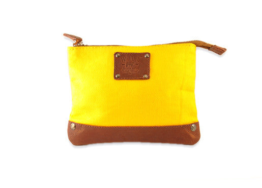 WILL Leather Goods Zip Pouch - Yellow