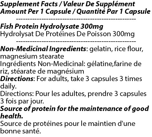 Pure Fish Protein 300mg 90c
