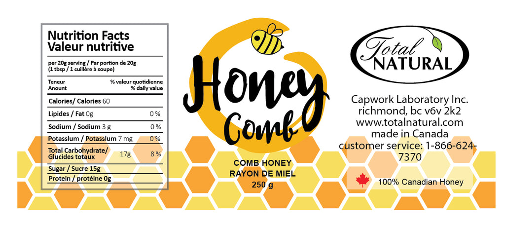 100% Pure Raw Unfiltered Honeycomb 250g+