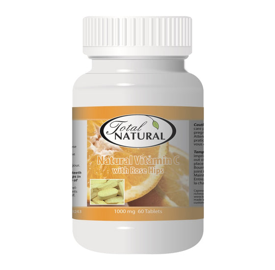 Natural Vitamin C With Rose Hips 1000mg 60t