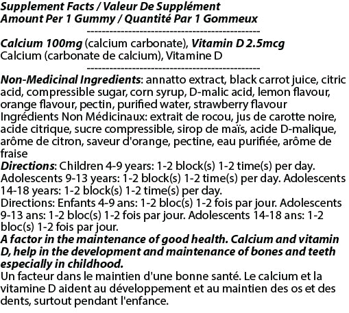 Gummy Bunny Calcium + D3 60 Gummies