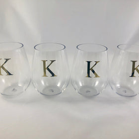 13oz Acrylic Stemless Wine Glass