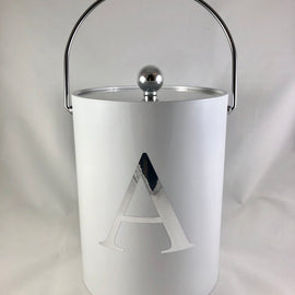 White 5 Quart Ice Bucket with Tools