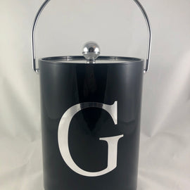 Black 5 Quart Ice Bucket with Tools