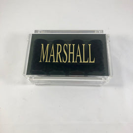 Card set in Black Acrylic Holder