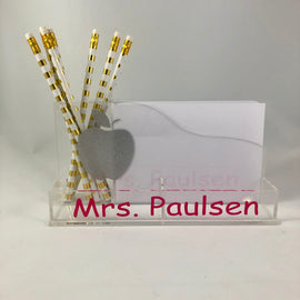 Acrylic Personalized paper pencil holder