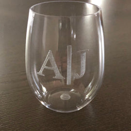 Etched Acrylic Stemless Wine