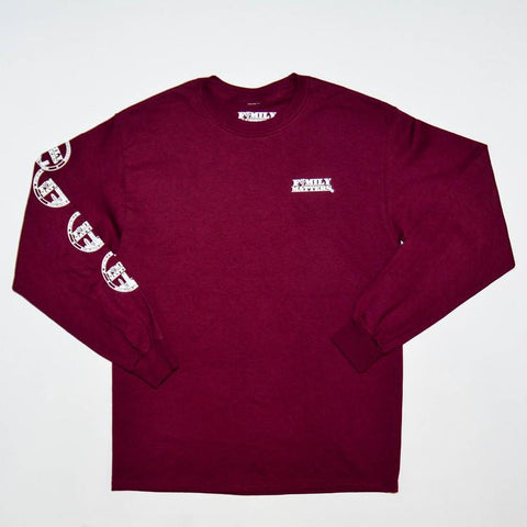 F4M Logo Long sleeve Tee in Maroon