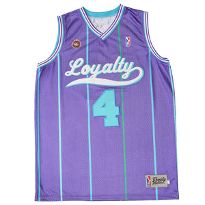 The Loyalty Basketball Jersey in Purple