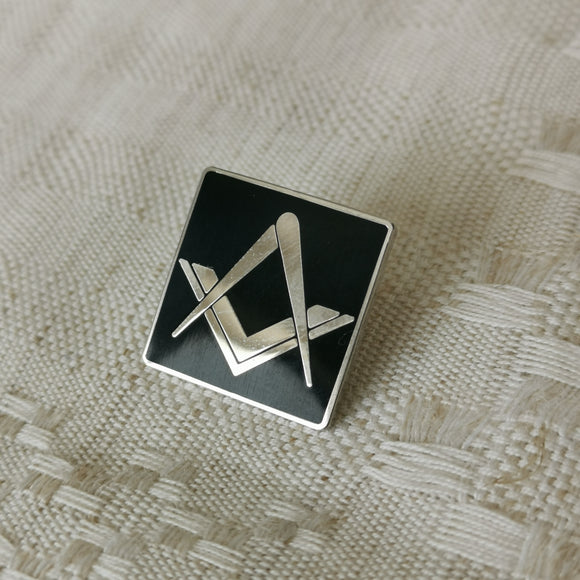 Black Square and Compass Pin