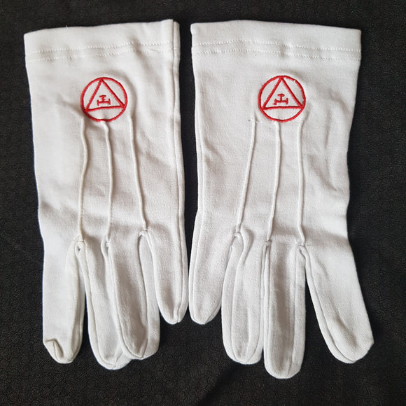 White Royal Arch Gloves