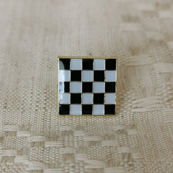 Black White Checkered Floor Pin