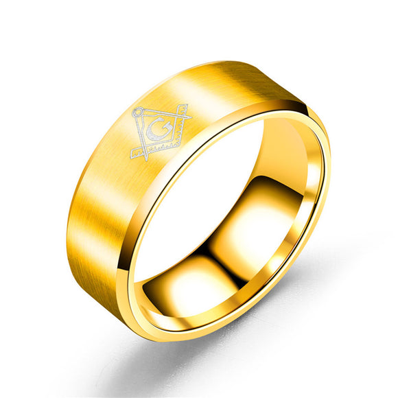 Small Gold Master Mason Ring