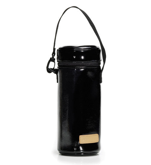 storksak Single bottle holder black patent