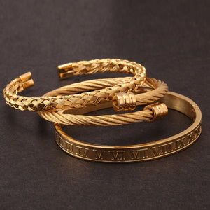 3pcs/set Luxury Cuff Bracelet