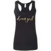 CustomCat T-Shirts Black / S Dream Girl Ladies' Softstyle Racerback Tank