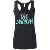 CustomCat T-Shirts Black / S Save California Multi-Color Ladies' Softstyle Racerback Tank