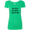CustomCat T-Shirts Envy / S NL6730 Next Level Ladies' Triblend Scoop