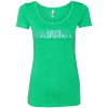 CustomCat T-Shirts Envy / S Save California Bold Font Ladies' Triblend Scoop