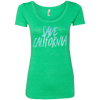 CustomCat T-Shirts Envy / S Save California Multi-Color Ladies' Triblend Scoop