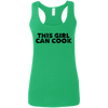 CustomCat T-Shirts Heather Irish Green / S G645RL Gildan Ladies' Softstyle Racerback Tank