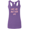 CustomCat T-Shirts Heather Purple / S Cute Crazy Light Pink Font Ladies' Softstyle Racerback Tank