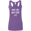 CustomCat T-Shirts Heather Purple / S Cute Crazy White-Pink Font Ladies' Softstyle Racerback Tank