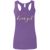 CustomCat T-Shirts Heather Purple / S G645RL Gildan Ladies' Softstyle Racerback Tank