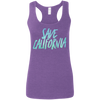 CustomCat T-Shirts Heather Purple / S Save California Multi-Color Ladies' Softstyle Racerback Tank