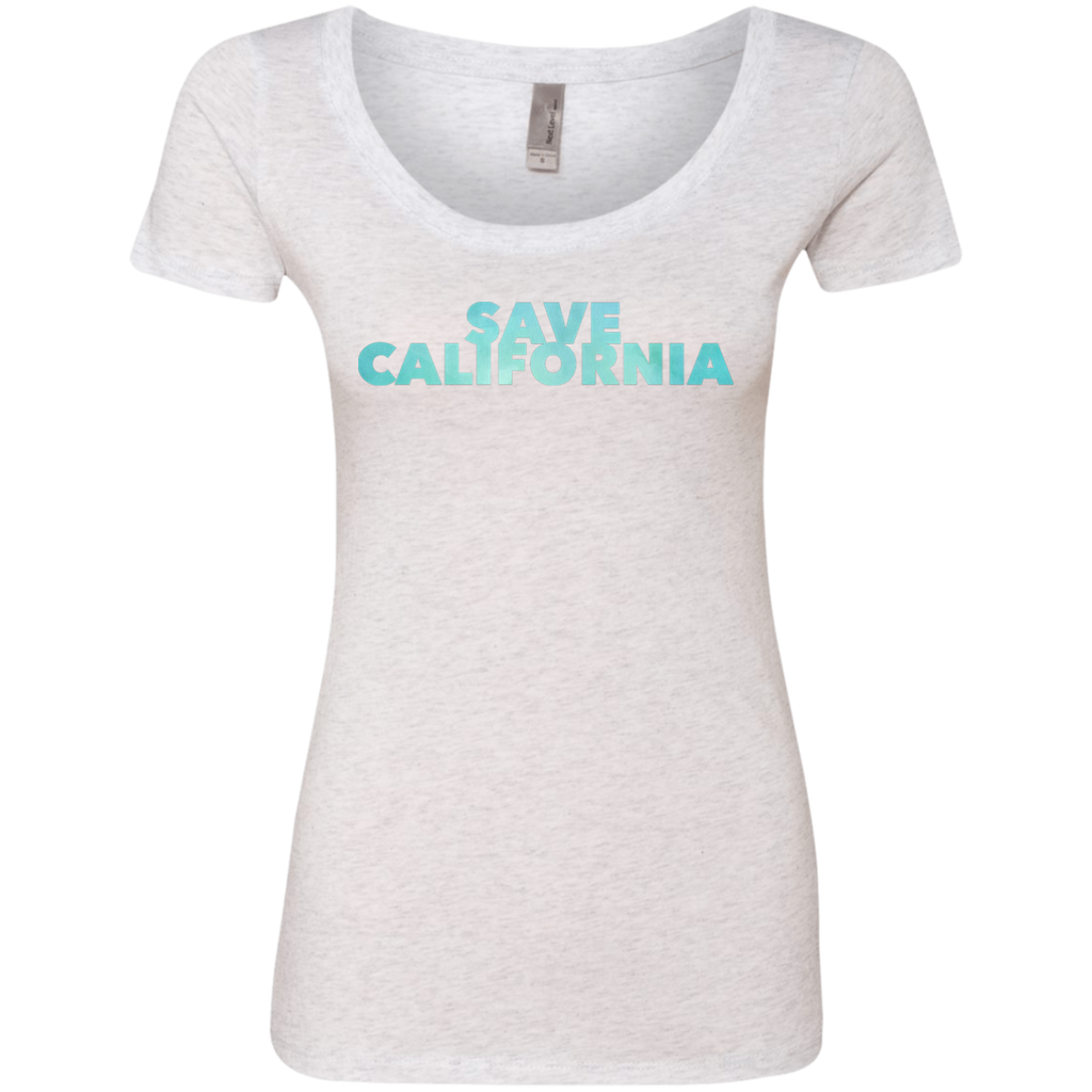 CustomCat T-Shirts Heather White / S NL6730 Next Level Ladies' Triblend Scoop