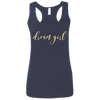CustomCat T-Shirts Navy / S Dream Girl Ladies' Softstyle Racerback Tank