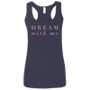 CustomCat T-Shirts Navy / S Dream With Me Ladies' Softstyle Racerback Tank