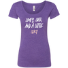 CustomCat T-Shirts Purple Rush / S Cute Crazy White-Pink Font Ladies' Triblend Scoop