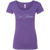 CustomCat T-Shirts Purple Rush / S NL6730 Next Level Ladies' Triblend Scoop