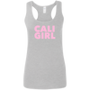 CustomCat T-Shirts Sport Grey / S Cali Girl Pink Font Ladies' Softstyle Racerback Tank