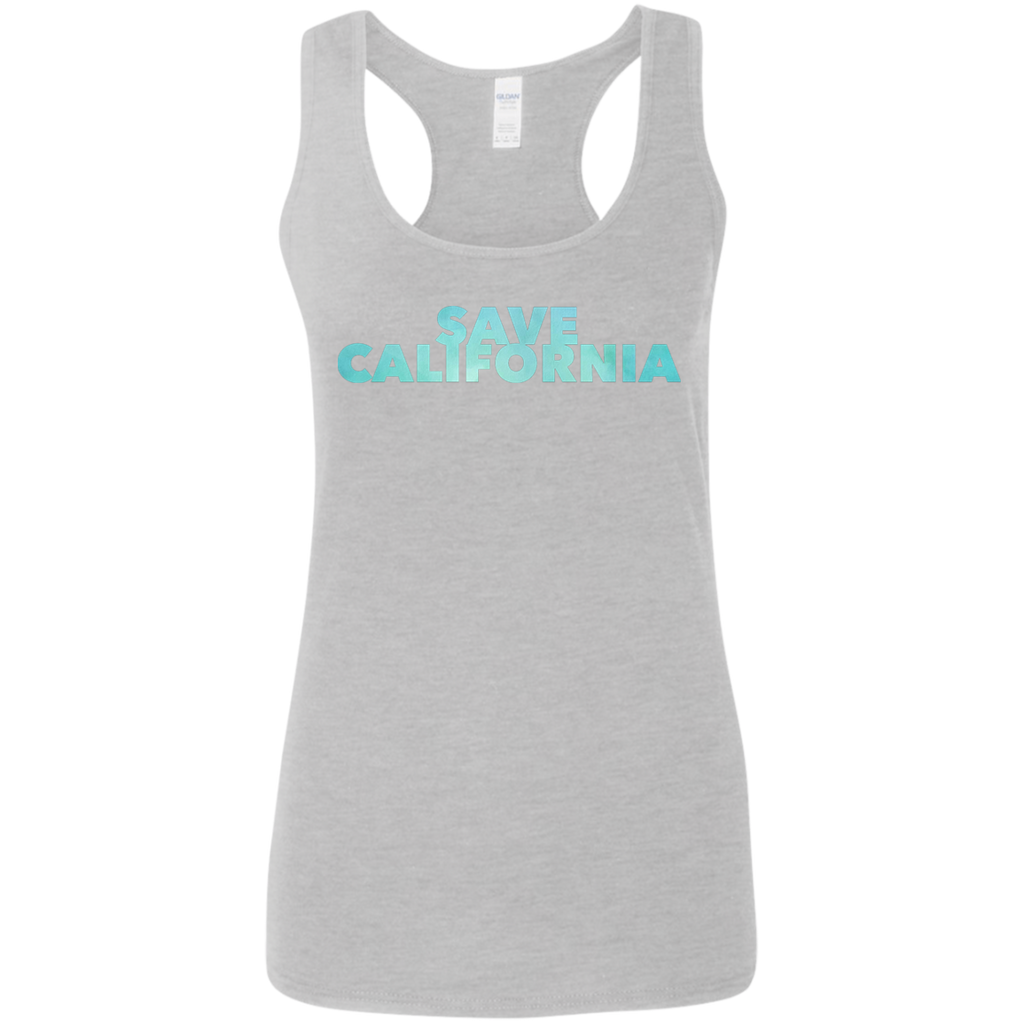 CustomCat T-Shirts Sport Grey / S G645RL Gildan Ladies' Softstyle Racerback Tank