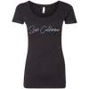 CustomCat T-Shirts Vintage Black / S NL6730 Next Level Ladies' Triblend Scoop