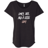 CustomCat T-Shirts Vintage Black / X-Small Cute Crazy White-Pink Font Ladies' Triblend Dolman Sleeve