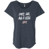 CustomCat T-Shirts Vintage Navy / X-Small Cute Crazy White-Pink Font Ladies' Triblend Dolman Sleeve