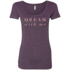 CustomCat T-Shirts Vintage Purple / S NL6730 Next Level Ladies' Triblend Scoop